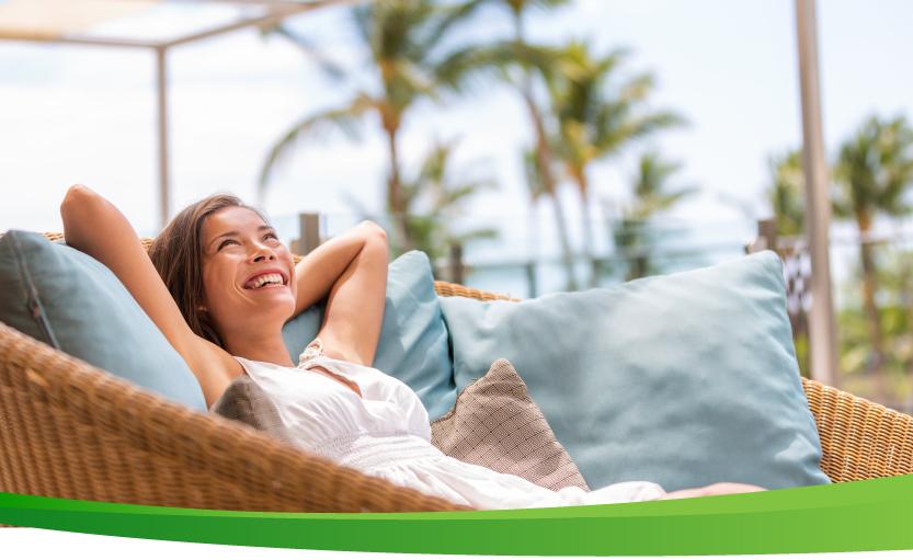 A woman relaxing and enjoying retirement